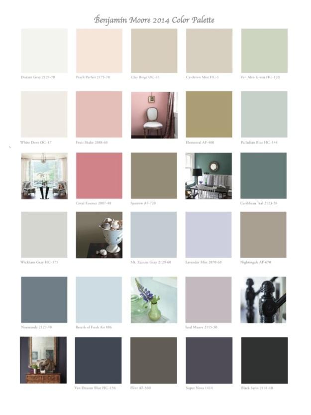 Benjamin Moore 2014 Color Palette jpg